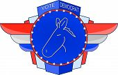 picture of midterm  - An Art Deco inspired election emblem encouraging voters to choose the Democratic Party - JPG
