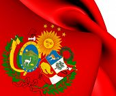 pic of confederation  - 3D Flag of Peru - JPG