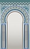 stock photo of front-entry  - Vector Illustration of Decorative Arc  - JPG