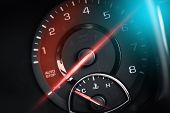 pic of meter  - Tachometer RPM Meter Car Power Concept - JPG