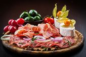 pic of catering  - Antipasto and catering platter with different appetizers - JPG