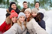 stock photo of friendship  - winter - JPG