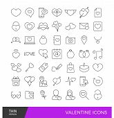picture of broken heart flower  - Colorful valentine days icon elements in red outline stroke - JPG