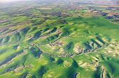 picture of farm land  - Ballooning over Israel  - JPG
