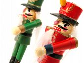 small German wooden nut cracker doll poster
