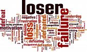 stock photo of underdog  - Loser word cloud - JPG