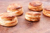image of buttermilk  - home made buttermilk biscuits on a wooden board - JPG