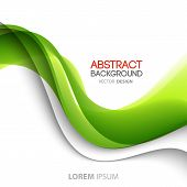 foto of curves  - Vector Abstract curved lines background - JPG