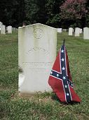 pic of confederate flag  - This is the grave of an unknown confederate soldier at Friendship Cemetery on 4th Street South in Columbus - JPG