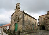 image of minos  - Church in the historical quarter of Tui a border town with Portugal in the region of Galicia Spain - JPG