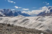 pic of shan  - Amazing high altitude landscape on Engilchek glacier in Tian Shan mountain range in Kyrgyzstan - JPG