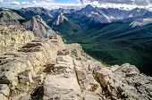 picture of chipmunks  - Mountains range view in Jasper NP with chipmunk in foreground Alberta Canada - JPG