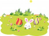 image of easter card  - Happy easter - JPG