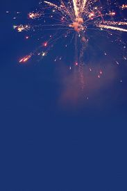 picture of flashing  - Firework celebration colorful lights flash on the sky - JPG