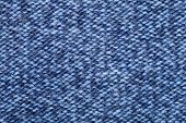 stock photo of ombre  - Blue knitted fabric made of heathered yarn textured background - JPG