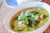 picture of thai food  - green curry with pork thai cuisine delicious food - JPG