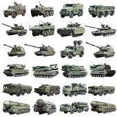 pic of armored car  - modern Russian armored military vehicles isolated on a white background - JPG