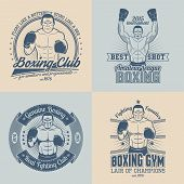 stock photo of boxers  - Boxing logo - JPG
