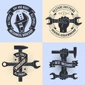 Постер, плакат: Emblem mechanics