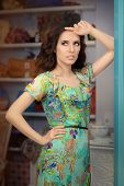 pic of boutique  - Portrait of a trendy girl in a fashion boutique - JPG