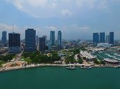 picture of drone  - Aerial drone photo of Downtown Miami and Bayside - JPG
