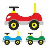 picture of car ride  - Baby toy car for riding on it - JPG