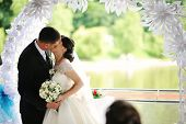 picture of married  - wedding day just married  of happy newlyweds - JPG