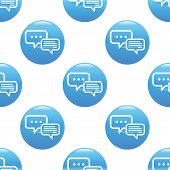 stock photo of intercourse  - Round sign with two chat bubbles - JPG