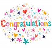 pic of life event  - Congratulations typography lettering decorative text card design - JPG