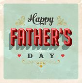stock photo of greeting card design  - Vintage Father - JPG