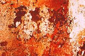 foto of rusty-spotted  - Texture of rusty with drip on steel wall background - JPG