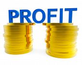 picture of profit  - Business Profit Representing Currency Earning And Trading - JPG