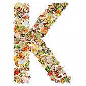 picture of letter k  - Letter K Uppercase Font Shape Alphabet Collage - JPG