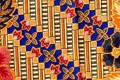 image of batik  - popular batik sarong pattern background in Thailand traditional batik sarong in Asian - JPG