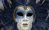 picture of venice carnival  - horizontal picture of a mask of Venice carnival - JPG