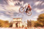 stock photo of dirt-bike  - Abstract background  - JPG