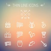 pic of pipe organ  - Music and entertainment thin line icon set for web and mobile - JPG