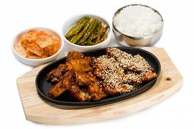 foto of kimchi  - Fried pork ribs with sesame seeds - JPG