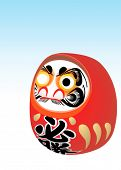 japanese daruma (dharma) New Year wish toy