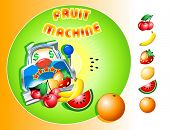 Casino slot Fruit Machine design with isolated fruits