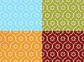 Seamless indian pattern in four color modes