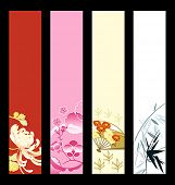 picture of geisha  - Asian art banner or sider backgrounds - JPG