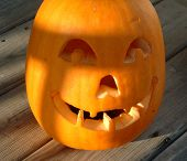 picture of jack-o-laterns-jack-o-latern  - A close up of an old - JPG