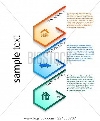 Modern Design Style Infographic Template Illustration Of Different Kinds Insurance Can Be Used