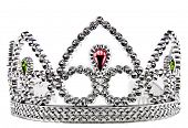 stock photo of beauty pageant  - Tiara isolated on white background - JPG
