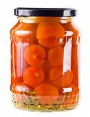 Постер, плакат: Томаты овощи консервы в стеклянных банках