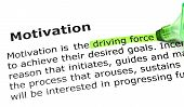 'driving Force', Under 'motivation'