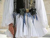 picture of evzon  - Details from the traditional costume of a presidential guard in Athens Greece - JPG
