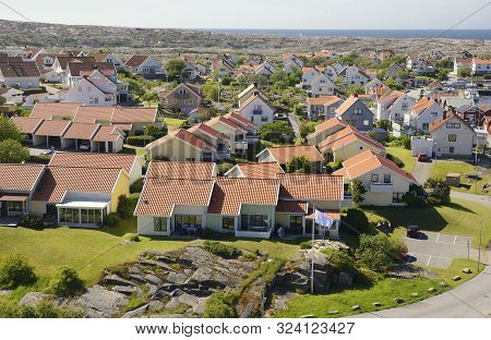 poster of Small Coastal Village In Scandinavia At Summer, Kungshamn - Sweden