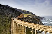 picture of bixby  - Bixby Bridge of California Big Sur coast - JPG